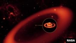 Saturnyň daşyndaky çala görünýän halka