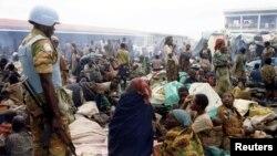 Африкадағы Руанда мемлекетінде жүрген БҰҰ бітімгерлік күштерінің сарбазы (Көрнекі сурет).