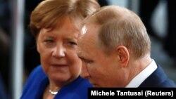 Канцлер Германии Ангела Меркель и президент России Владимир Путин. Берлин, январь 2020 года.