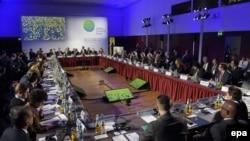 اعضای صندوق «آب و هوای سبز» سازمان ملل که در برلین گردهم آمده بودند.