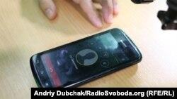Філіп Циммерманн дає інтерв'ю з Вашингтона через мобільний додаток Silent Circle