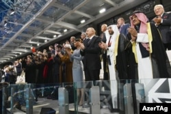 Bakı Olimpiya Stadionunda IV İslam Həmrəyliyi Oyunlarının təntənəli açılış mərasimi. 12 may 2017