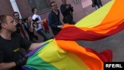 Гей-прайд у Менску ў траўні 2010