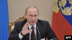 Ռուսաստանի նախագահ Վլադիմիր Պուտինը Կրեմլում նիստ է վարում, արխիվ