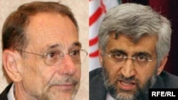 EU foreign policy chief Javier Solana left) and Iranian nuclear negotiator Saeed Jalili