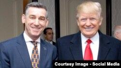 Kryetari i parliamentit të Kosovës, Kadri Veseli së bashku me presidentin, Donald Trump