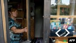 празна продавница на северот од Косово