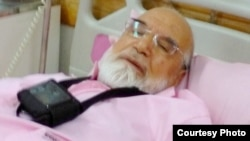 Photo Released by Mehdi Karrubi's son on Twitter allegedly showing him in hospital after surgery in July 2017