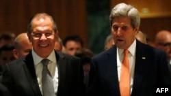 Сергей Лавров и Джон Керри в Женеве, 9 сентября 2016