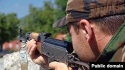 Azerbaijan -- Azeri soldier, undated