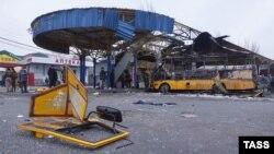 Автостанція в Донецьку після обстрілу, 11 лютого