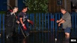 Поплави по силниот дожд и град во Скопје. 25 мај 2014