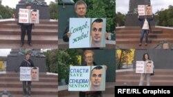 Акція на підтримку Олега Сенцова у Росії, 19 травня 2018 року