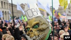 Представники малого та середнього бізнесу протестують у Києві, листопад 2010 року