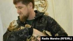 Рамзан Кадыров с домашним питомцем