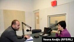 Saša Janković sa novinarkom RSE Ljudmilom Cvetković