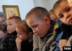 Дети-сироты в одном из детских домов Ивановской области