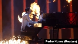 Выступление Melovin в полуфинале «Евровидения». Лиссабон, 10 мая 2018 года