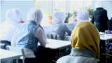 Hijab school Osh, February 8, 2018