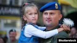 Учасник Машу захисників України. Київ, 24 серпня 2019 року