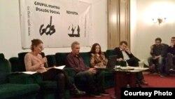 La comemorarea de la GDS cu Maia Morgenstern, Andrei Ursu, Magda Cîrneci și Radu Filipescu
