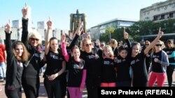 Акцыя One Billion Rising у Падгорыцы, Чарнагорыя, 2015 год