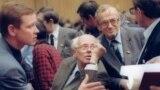 Сергей Станкевич, Андрей Сахаров, Виталий Гольданский на Съезде народных депутатов СССР.