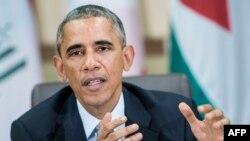 На снимке: президент США Барак Обама