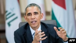 U.S. President Barack Obama said he would update congressional leaders about the fight against Islamic State militants during meetings in Washington on November 7.