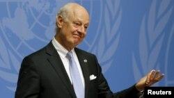 БҰҰ-ның Сирия мәселесі жөніндегі арнайы өкілі Стаффан де Мистура.