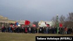 Антивоєнний мітинг в Санкт-Петербурзі, 8 березня 2014 року