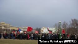 Антивоенный митинг в Петербурге, 8 марта 2014 года