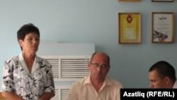 Яңа рәис Нәзирә Касыймова һәм элекке рәис Ирек Шәрипов
