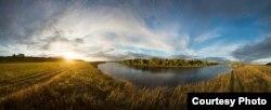 Дняпроўскі захад сонца непадалёк Магілёва. 11.07.2015