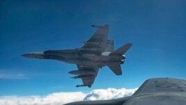 مقاتلة لسلاح الجو الكندي في أجواء العراق خلال مهمة لضرب داعش