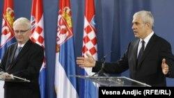 Boris Tadić i Ivo Josipović u Beogradu, 18. jul 2010.
