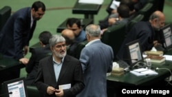 Iran's Deputy Speaker on the floor of parliament. File photo