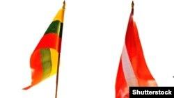 Флаги Литвы и Латвии