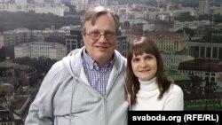 Юрась Зянковіч і яго жонка Алена Дзянісавец