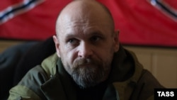 Aleksei Mozgovoi pictured in the Luhansk region in October, 2014