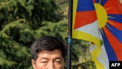 Lobsang Sangay, a 43-year-old Harvard scholar, has been sworn in as head of the Tibetan government in exile.