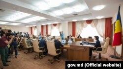 Ședință a guvernului Maiei Sandu