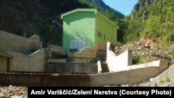 Mini elektrana na rijeci Kraljuščici, pritoci Neretve.