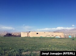 Ош-Хорог автожолунун таманындагы Аличор кыштагы. Мургап району, Тажикстан.