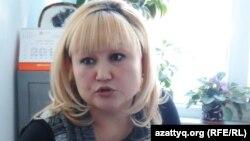 Жанетта Жазыкбаева, председатель благотворительного фонда «Защита детей от СПИДа». Шымкент, 10 февраля 2014 года.