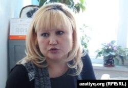 «Балаларды СПИД-тен қорғау» қайырымдылық қорының төрайымы Жанетта Жазықбаева. Шымкент, 10 ақпан 2014 жыл.
