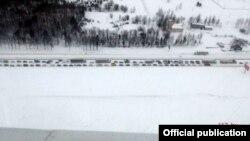 Затор на трасе М4 каля Прывольнага па стане на 11 гадзін, фота МНС