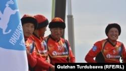 Көкбөрү боюнча Кыргызстандын улуттук курама командасы. Чолпон-Ата. 7-сентябрь 2018-жыл.