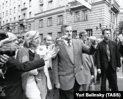 Владимир Путин в свите Анатолия Собчака