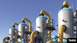A gas compressor station, 120 kilometers west of Lviv, on the Ukrainian-Polish border